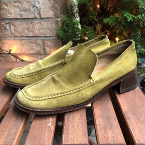 Vintage Via Spiga Suede Loafer with leather soles